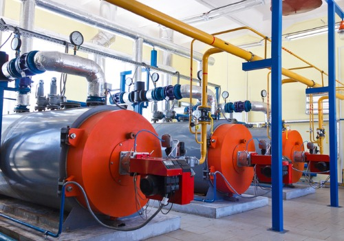 A line of boilers needing Industrial Boiler Services in IL