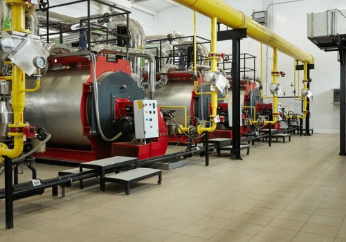 A row of Commercial Boilers in IL