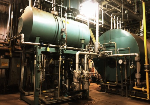 Large Blue Industrial Boilers in IL