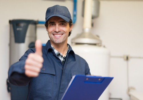 Mechanic Giving a Thumbs Up After a Boiler Installation in Illinois